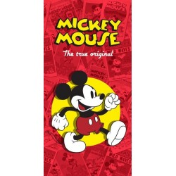 Osuška - Mickey Mouse - červená - 150 x 75 cm - Euroswan