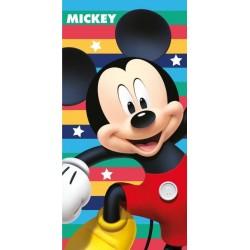 Osuška - Mickey Mouse - farebné prúžky - 140 x 70 cm - Jerry Fabrics