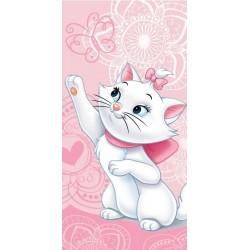 Osuška - Mačička Mária - ružová - 140 x 70 cm - Jerry Fabrics