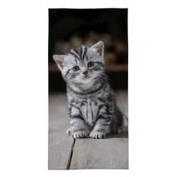 Osuška - Sivé mačiatko - 140 x 70 cm - Detexpol