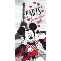 Osuška - Mickey a Minnie v Paríži - 140 x 70 cm - Jerry Fabrics