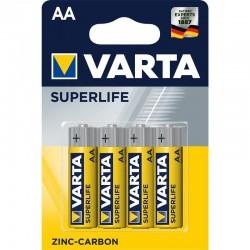 Zinkovouhlíková batéria Superlife R6 - 4x AA - blister - Varta