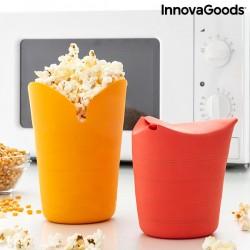 Silikónové skladacie nádoby na popkorn Popbox - 2 ks - InnovaGoods