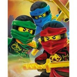 Detská flísová deka - Lego Ninjago - 150 x 100 cm - Halantex