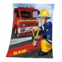 Detská flísová deka - Požiarnik Sam - 160 x 130 cm - Herding