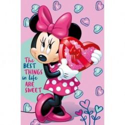 Detská flísová deka - Minnie - ružová - 150 x 100 cm - Jerry Fabrics