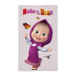 Detský uterák - Máša a Medveď - Máša s motýlikmi - 50 x 30 cm - Detexpol