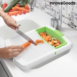 Lopárik na krájanie s nádobkou a cedidlom PractiCut - 3 v 1 - InnovaGoods