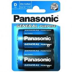 Batéria General Purpose R20BE/2BP - 1,5 V - 2x D batéria - blister - Panasonic