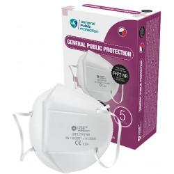 Český respirátor GPP2 FFP2 NR (CE) - 1 ks - biely - General Public Protection