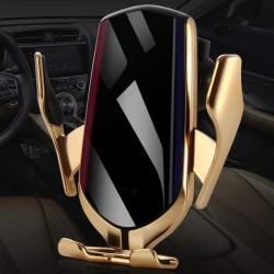 Bezdrôtová nabíjačka a držiak do auta Lux R1 2 v 1 - zlatý