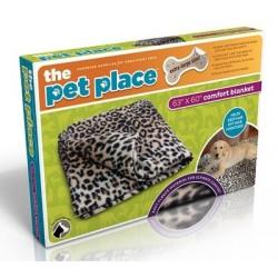 Flísová deka pre psíkov - 100 x 150 cm - vzor leopard