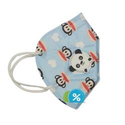 Detský respirátor s dýchacím ventilom KN95 - 1 ks - modrý - OEM