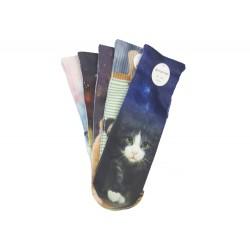 Dámske ponožky s celopotlačou zvieratiek NP156 - 5 párov - Auravia