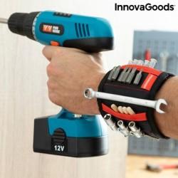 Magnetický náramok pre domácich majstrov s dvoma vreckami WrisTool - InnovaGoods