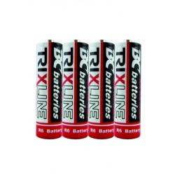 Zinkochloridové tužkové batérie BCR6/4P - 1,5 V - 4 ks - Trixline