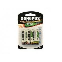 Nabíjacia batéria AA SP-1814 - 4 ks - 4700 mAh - Songpus
