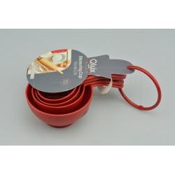 Súprava 4 plastových odmeriek - 60 - 240 ml - 16 cm - Qlúx