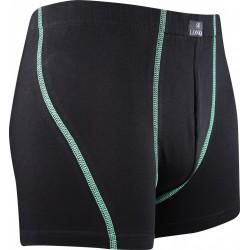 Boxerky Kamil - čierne so zelenými pruhmi - Lonka
