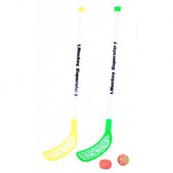 Florbalové hokejky s loptičkou a pukom - 80 cm - Rappa