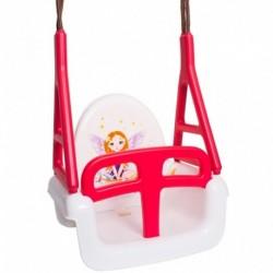 Detská hojdačka 3 v 1 - Princess Swing - biela - Tega