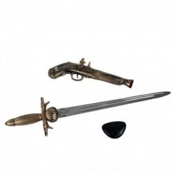 Pirátska súprava - bambitka s mečom a klapkou na oko - Rappa