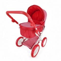 Veľký kočík pre bábiky - červený - Rappa