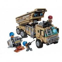 Stavebnica Qman Combat Zone 1728 - Vojenský automobil s raketami - Rappa