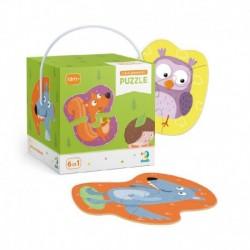 Puzzle s malým počtom dielikov - lesné zvieratká - TM Toys