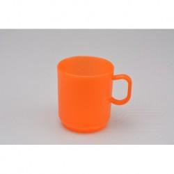 Plastový hrnček - 2,5 dl - oranžový - TVAR