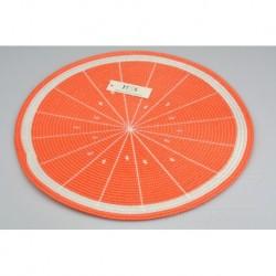 Pletené prestieranie - 38 cm - pomaranč