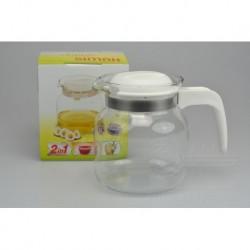 Kanvica na čaj - 1 L - biela - 14,5 cm - SIMAX