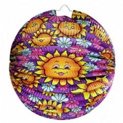 Lampión so slnečnicovým motívom - 25 cm - Rappa