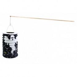Halloweensky lampión s drevenou paličkou - motív ducha - 15 cm - Rappa