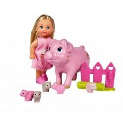 Bábika Evička s prasiatkami - Simba
