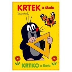 Maľovanky s motívom Krtka - A5 - Krtko a škola - Rappa