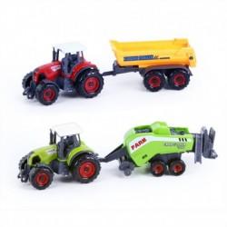 Kovový traktor s vlečkou - 2 kusy - Rappa