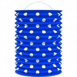 Papierový lampión - modrý s bodkami - 23 cm - Rappa
