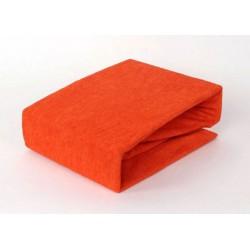 Prémiové froté prestieradlo - oranžové - BedStyle