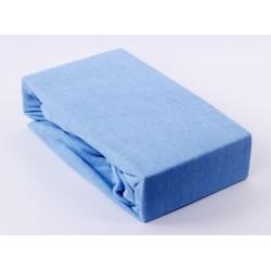Prémiové froté prostieradlo - nebeská modrá - BedStyle
