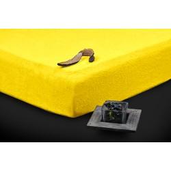 Prémiové froté prostieradlo - žlté - BedStyle