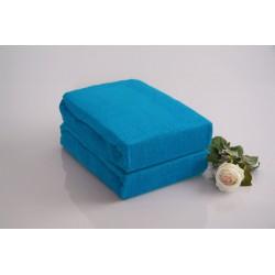 Prémiové froté prestieradlo - azúrové - BedStyle