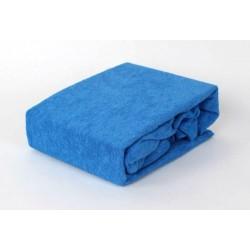 Prémiové froté prestieradlo - modré - BedStyle