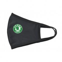 Textilné rúško - Škoda - zeleno-biele logo