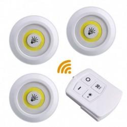 Bezdrôtové LED svietidlo na diaľkové ovládanie - 3 ks