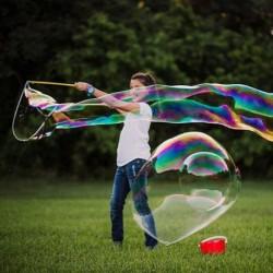 Mega bublifuk na obrovské mydlové bubliny