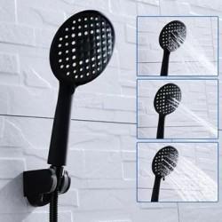 Úsporná dizajnová sprchová hlavica - čierna