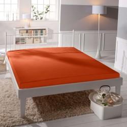 Prémiové jersey prestieradlo - oranžové - BedStyle