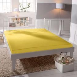 Prémiové jersey prestieradlo- žlté - BedStyle