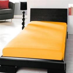 Prémiové jersey prestieradlo - slunečná žltá - BedStyle